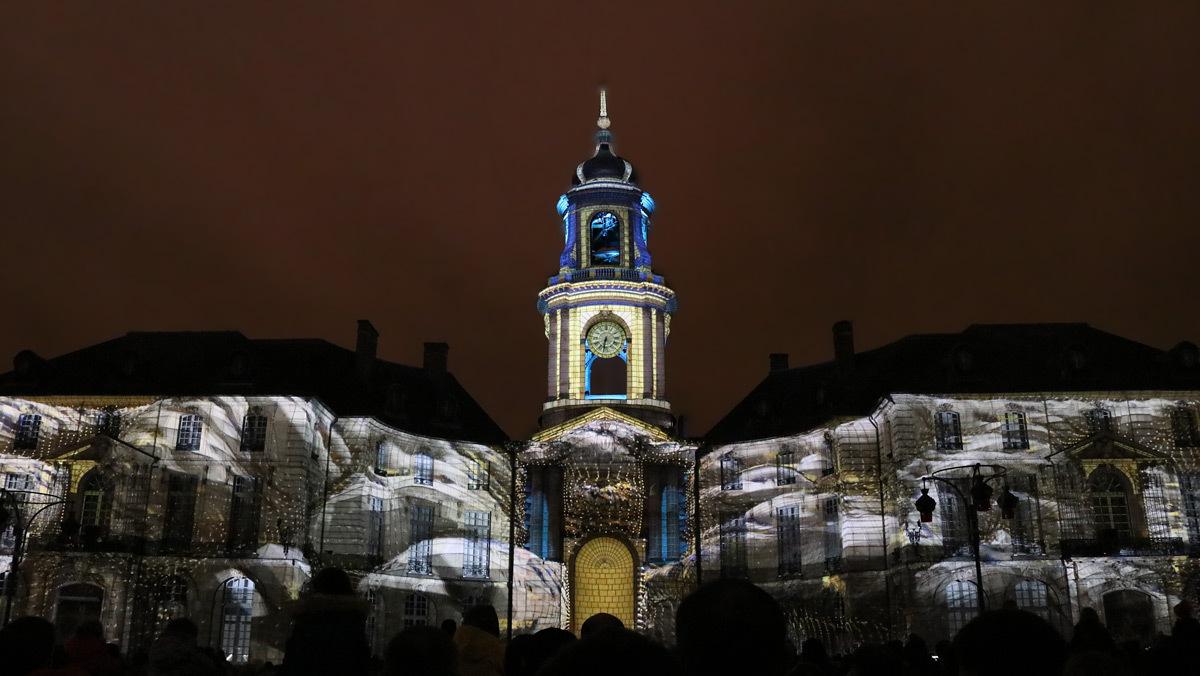 """""""Carrousel"""", Hôtel de Ville, Rennes, France - Création numérique 2018 : Yann Nguema - Musique : EZ3kiel © Vincent Laganier"""