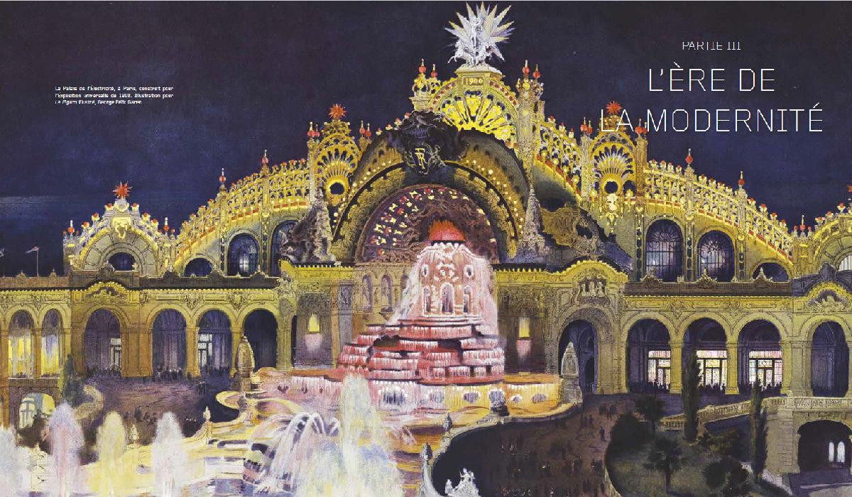 Lumières sur la ville, une histoire de l'éclairage urbain, de Agnès Bovet-Pavy - page d'ouverture de la partie III