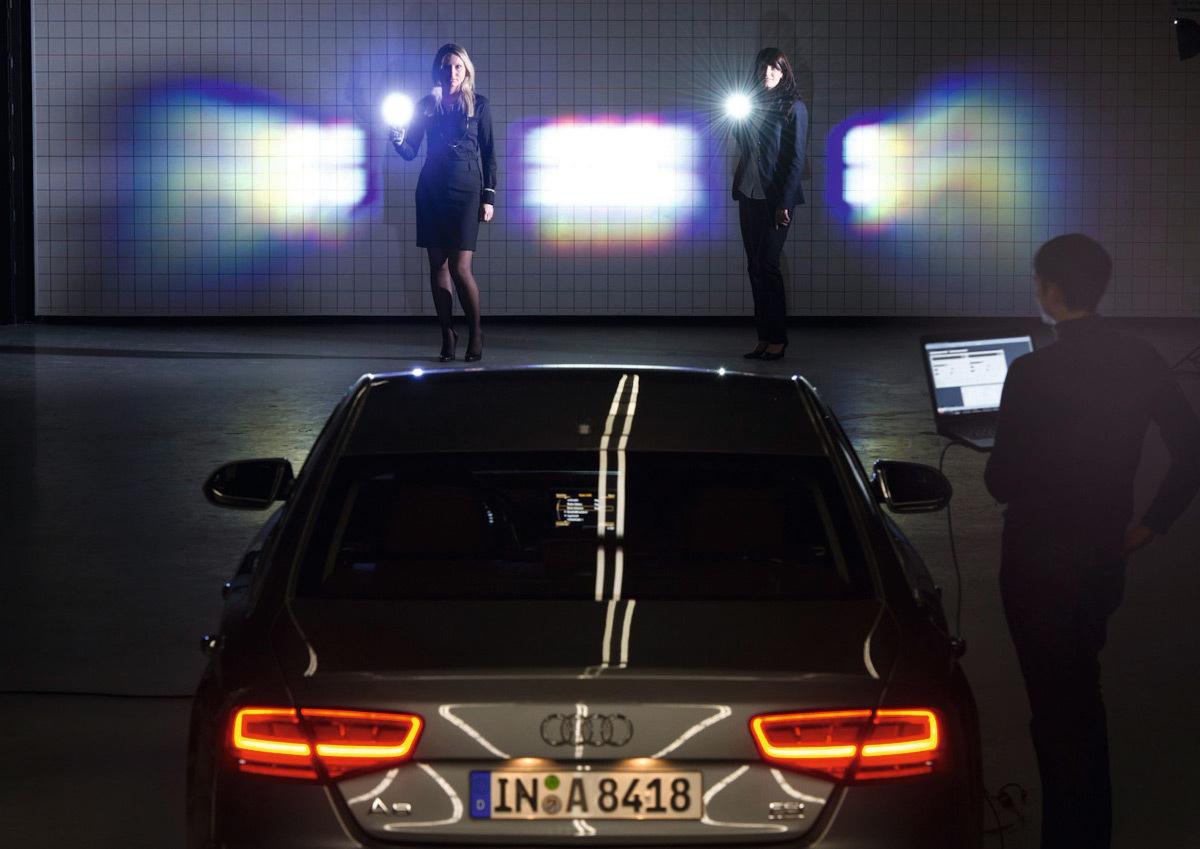 Test en soufflerie LED Matrix Beam sur une voiture