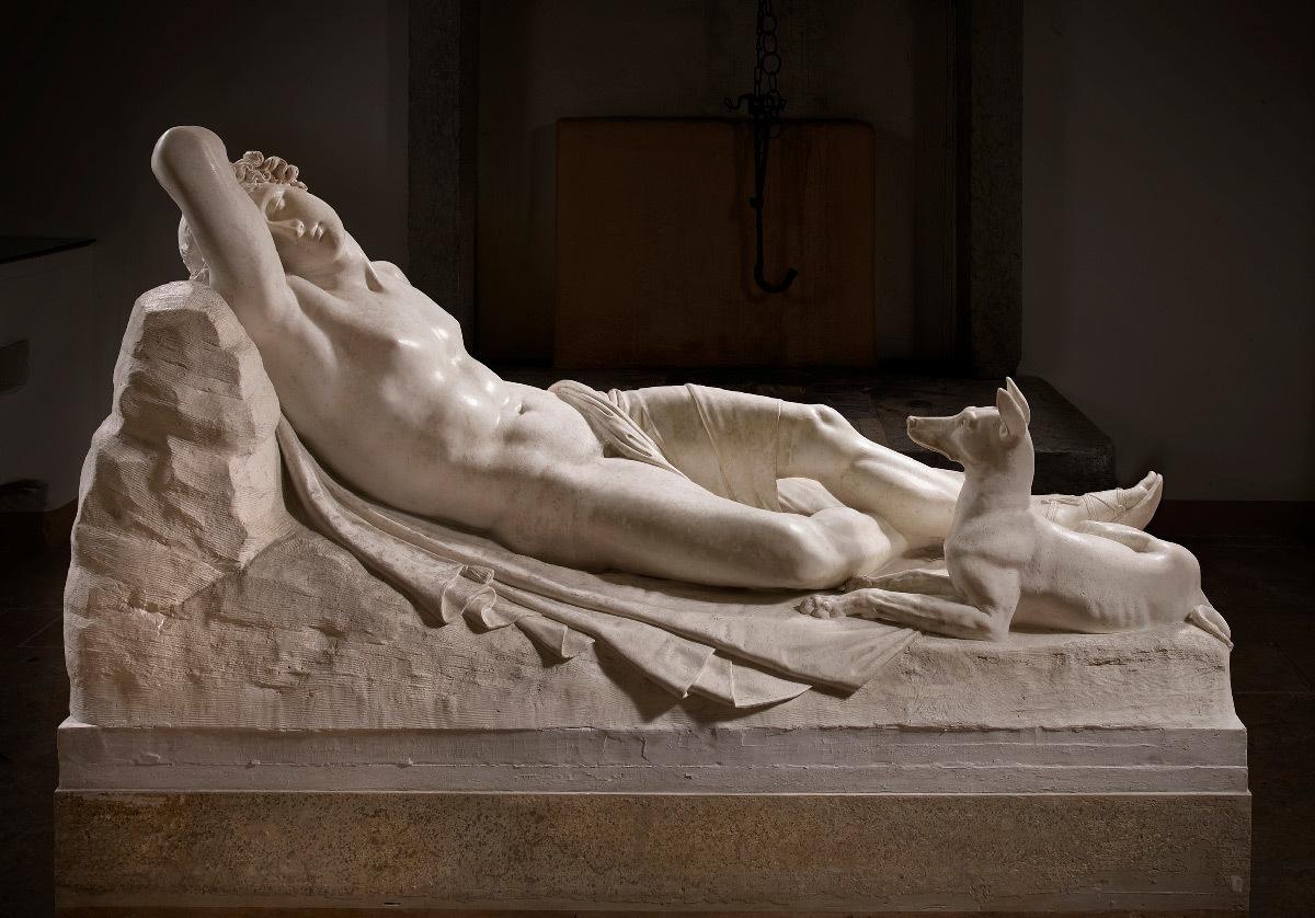 Antonio Canova, Endymion endormi, plâtre, 1819