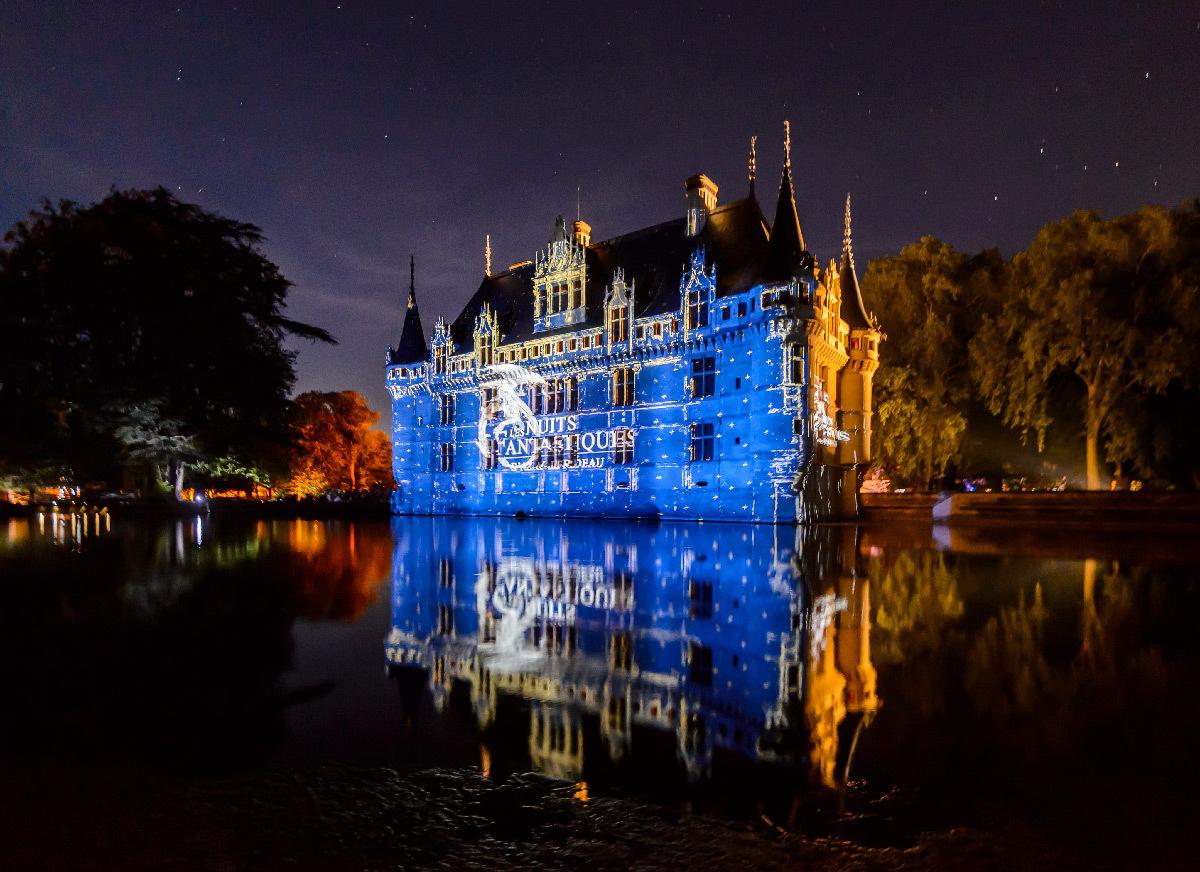 Les Nuits Fantastiques, château d'Azay le Rideau, France - son et lumière - création 2019 Explore studio © Léonard de Serres - CMN