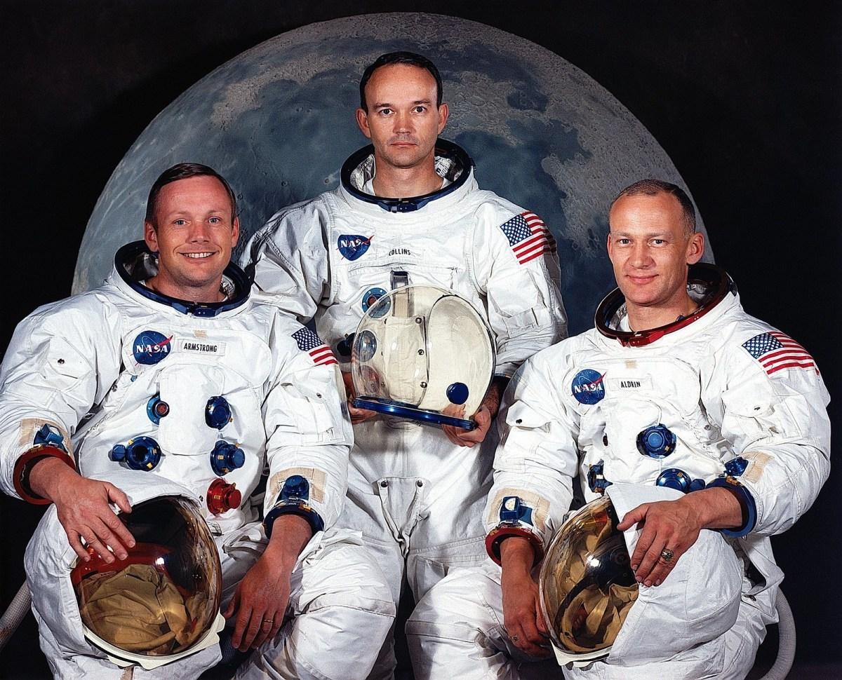 Nomination équipage astronautes mission atterrissage lunaire Apollo 11 - Neil A. Armstrong, Michael Collins, Edwin E. Aldrin Jr., © NASA - s69-31740 - Mai 1969