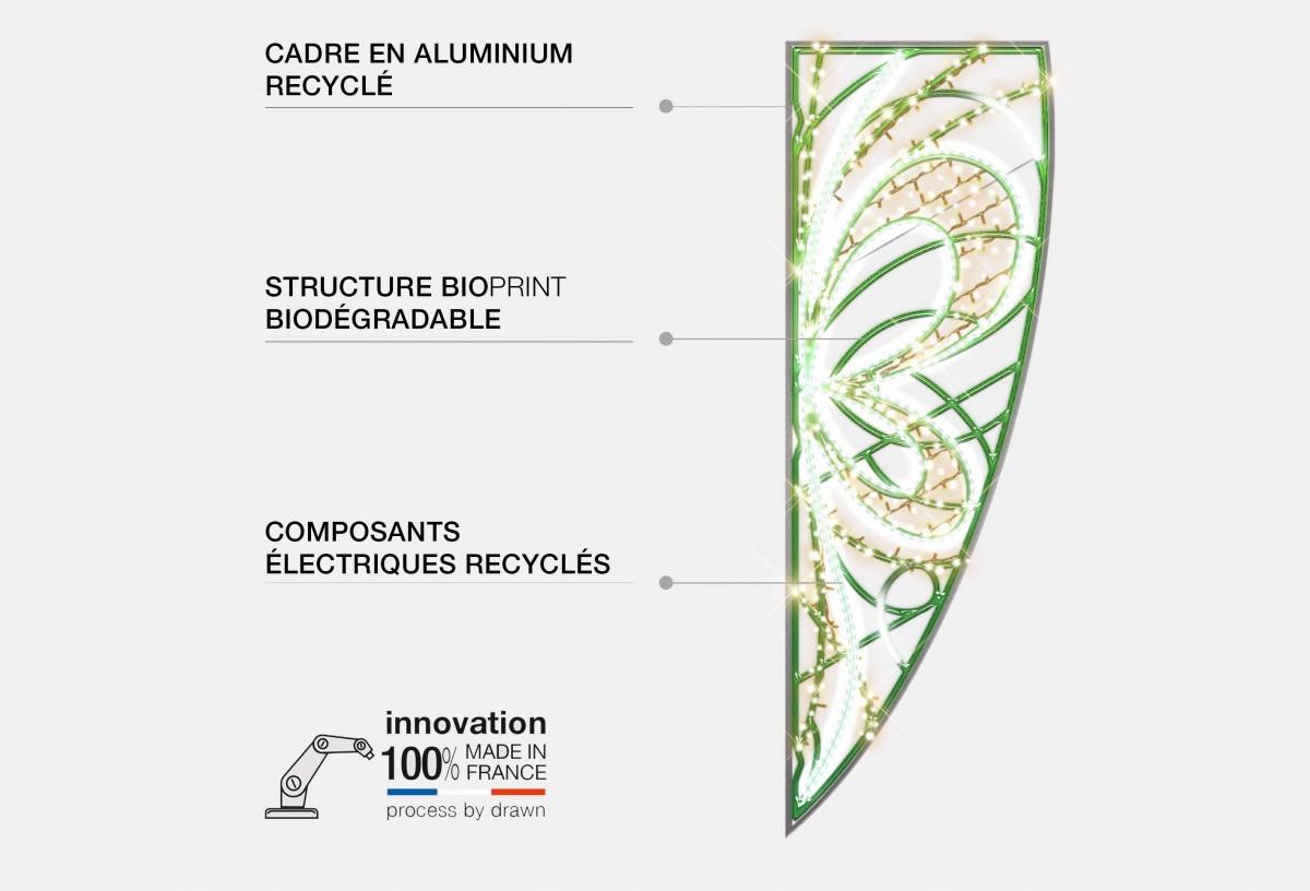 Bioprint - Impression 3D décor d'illumination - Illustration Blachère Illumination