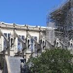 Cathédrale Notre-Dame de Paris, façade sud de la nef sans toiture et vitraux - Septembre 2019 © Vincent Laganier