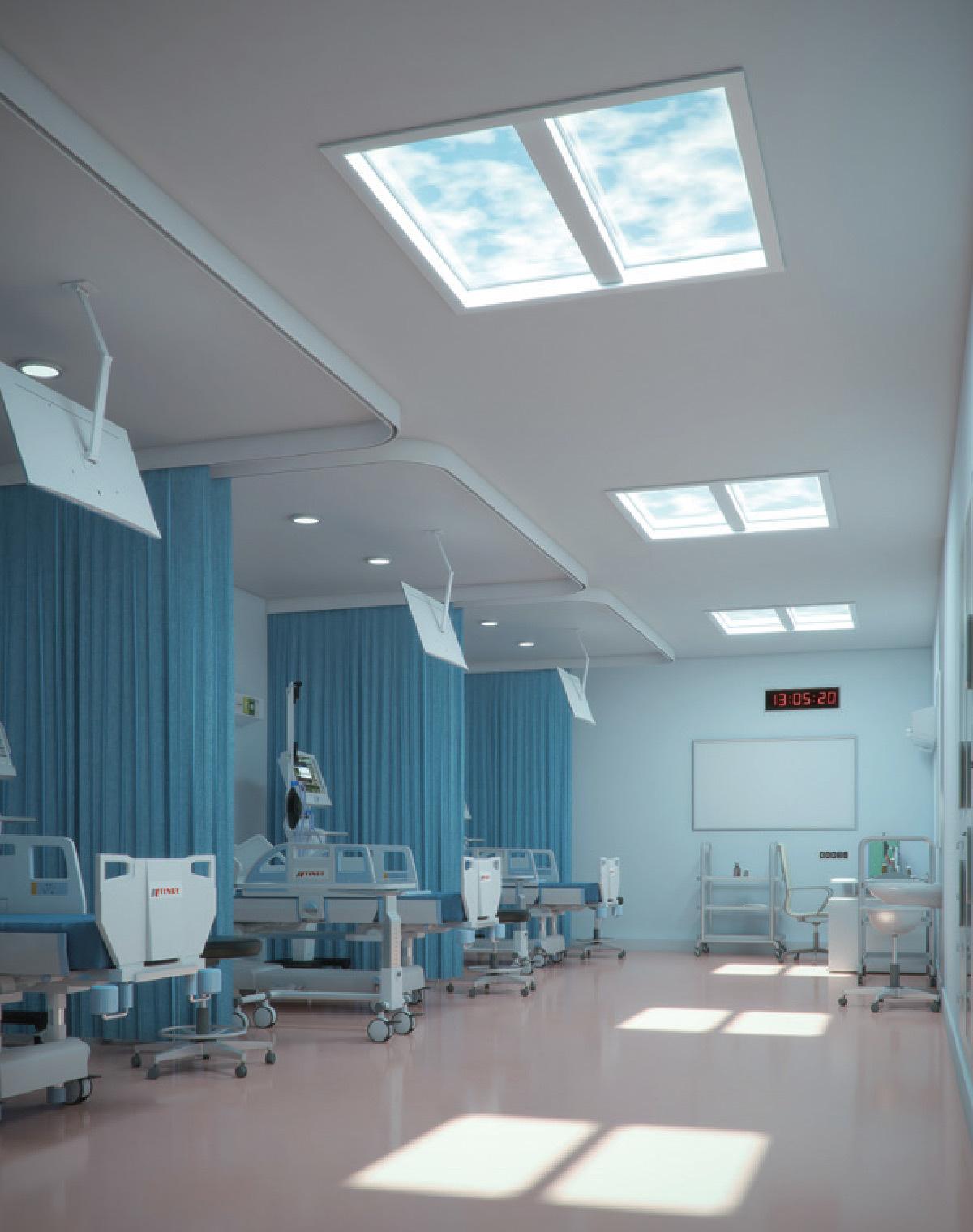 Waouh, panneaux LED qui imitent la lumière du soleil - simulation 3D © Resistex
