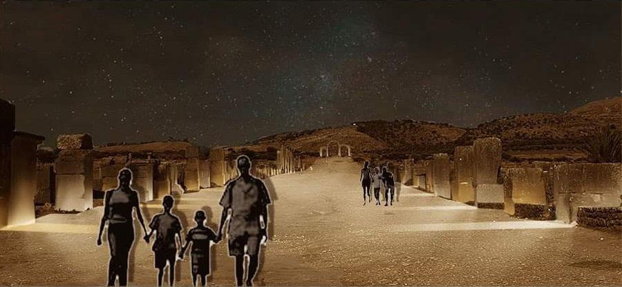 Simulation lumière, dodecamus maximus, Volubilis, Maroc - Tifawine Light Contest, Illuminate, équipe 8 © Bassiouni Wafa et Machhour Btissam