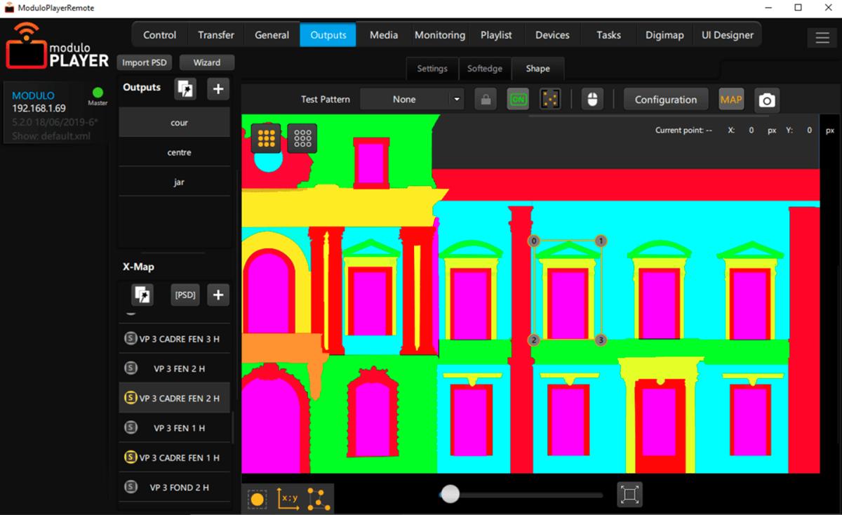 Modulo Player - écran Warping © Modulo Pi