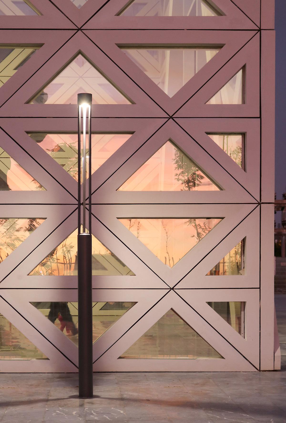 Lumière sur mat, gare de Kénitra, Maroc - Architectes : OKA, SDA