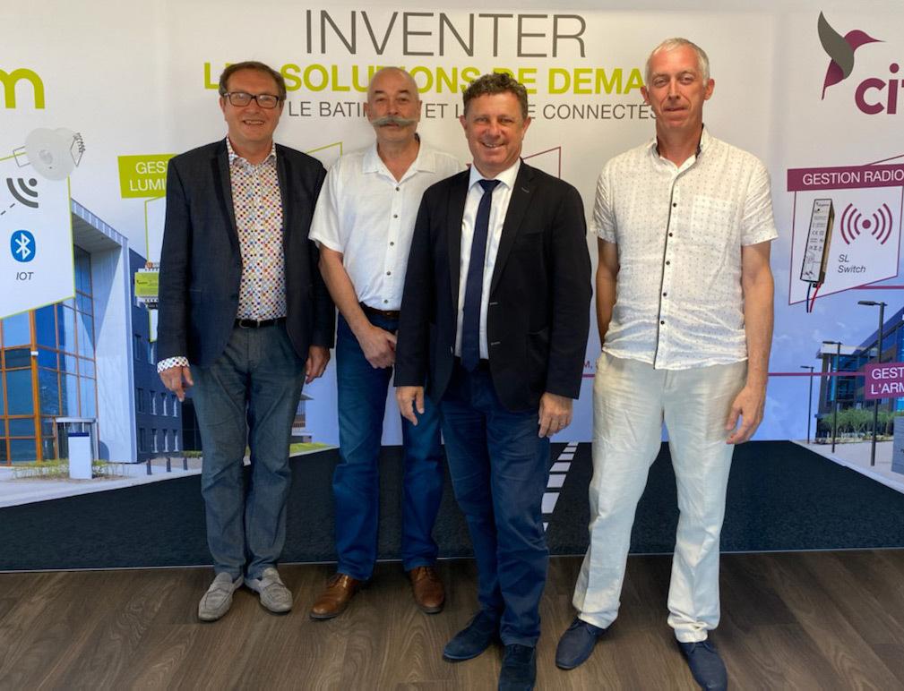 Bernard Delhomme, Gilbert Fontaine, Gilles Fallet, Patrick Tabouret - Transmission Groupe Arcom