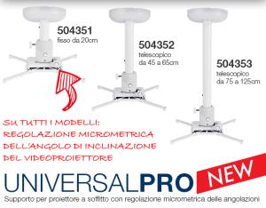 Nuova linea di Supporti a Soffitto per Videoproiettore Universal Pro