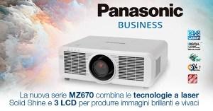Nuova Serie Panasonic MZ670/MZ570: Proiettori 3 LCD a Tecnologia Laser Solid Shine