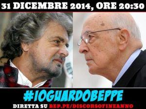 Beppe Grillo vs Giorgio Napolitano