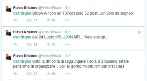 Briatore annuncia nascita Billion Air