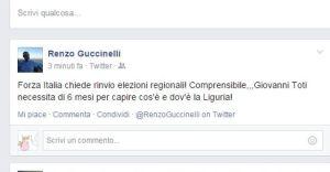 Assessore Guccinelli ironizza su Giovanni Toti