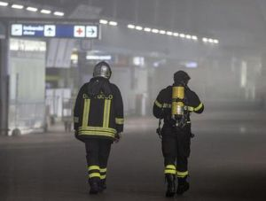Incendio all'aeroporto di Fiumicino