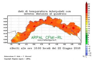 Caldo record in Liguria