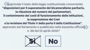 scheda Referendum del 4 dicembre