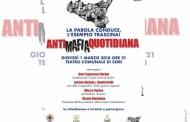 Sori, al Teatro Comunale una serata dedicata all'antimafia