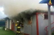 La Spezia - Incendio al campo sportivo Pieroni