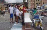 Sori, inaugurata la spiaggia interamente accessibile ai disabili