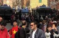 Comizio di Casa Pound a Genova, tensione alle stelle