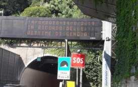 Ponte Morandi - Il messaggio sulla rete autostradale in ricordo delle vittime