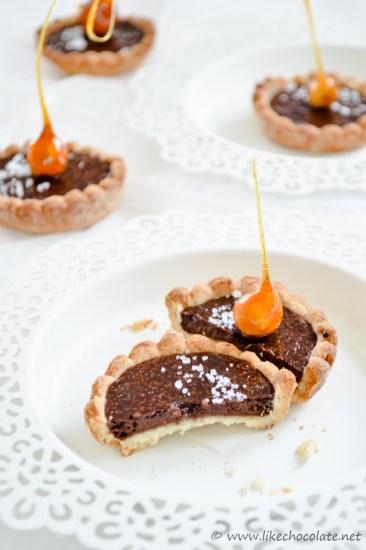 Mini tart s lješnjacima i čokoladom (5)