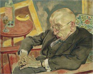 George Grosz's Portrait of the Poet Max Herrmann-Neisse (1927)