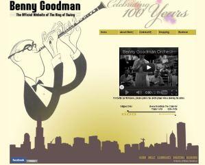 Benny Goodman website thumbnail