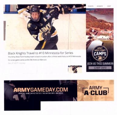 From exhibit from the Army's opposition to registration of LAS VEGAS GOLDEN KNIGHTS showing color scheme similarities