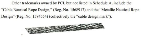 Cable Nautical Rope Design Trademark