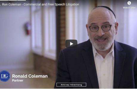 Lawyer Ron Coleman - Video - Free speech litigation