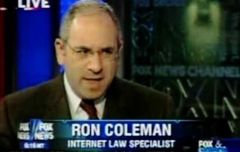 Ron Coleman Internet Lawyer