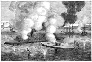 Ironclads battle