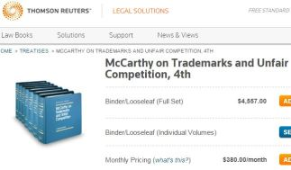 McCarthy on Trademark Law