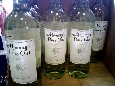 Mommy's Time Out wine by Ron Coleman