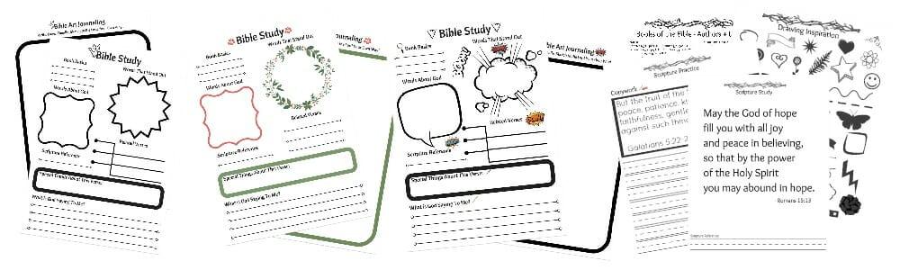 FREE eCourse Tween Spiritual Growth - Intro to Inductive Bible Study + Bible Art Journaling