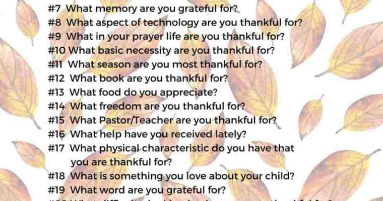 Cultivate a Thankful Heart – 30 Prayer Prompts to Express Gratitude
