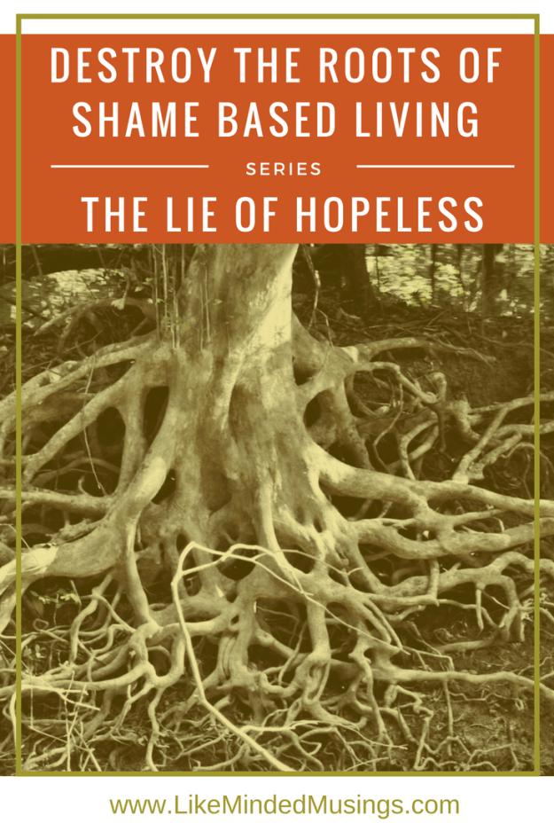 Destroy the Roots of Shame Based Living - The Lie of Hopeless.jpg