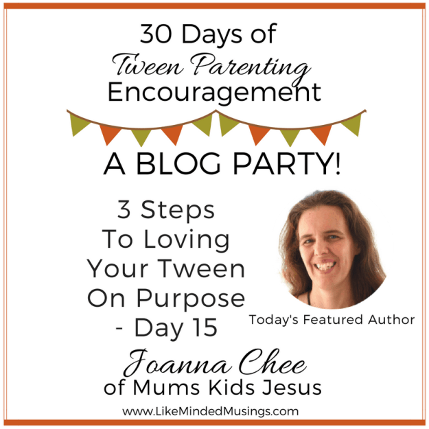 Tween Parenting Blog Party Author Box Joanna Chee Like Minded Musings