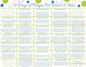 31 Days of Prayer for Tweens and Teens Like Minded Musings