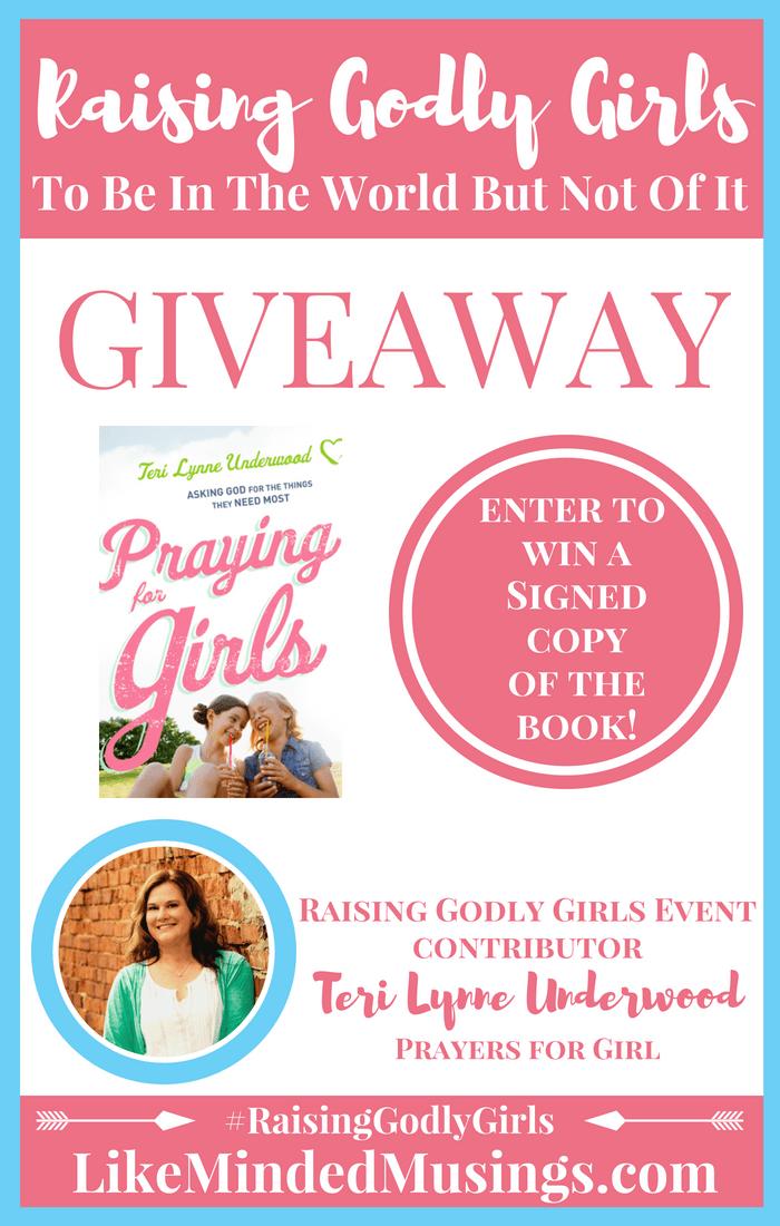 Prayer for Girls Giveaway Raising Godly Girls Pinterest Like Minded Musings