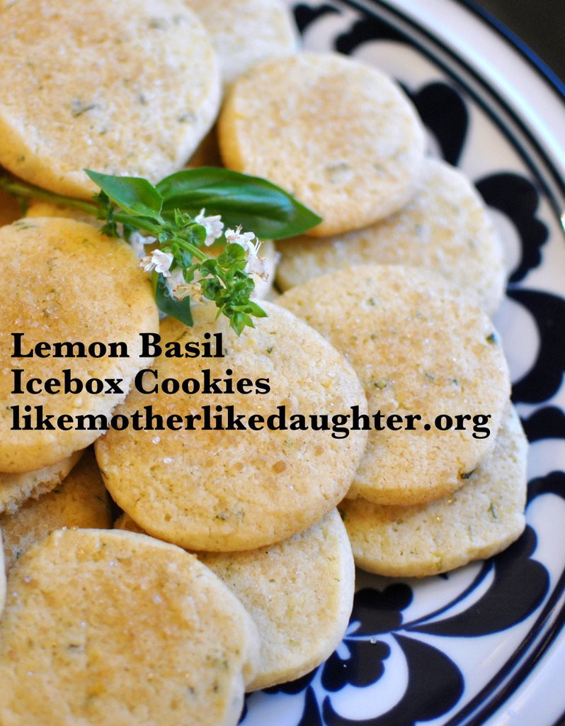 Lemon Basil Icebox Cookies
