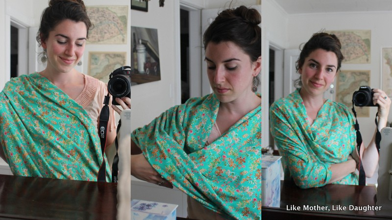 A giveaway of a beautiful nursing scarf! ~ Like Mother, Like Daughter