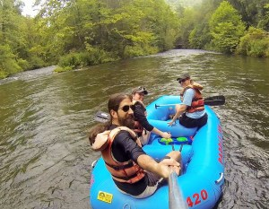 A little selfie stick action using a gopro on one of the paddles