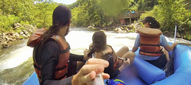 My review of my whitewater rafting trip on the Nantahala river in western NC