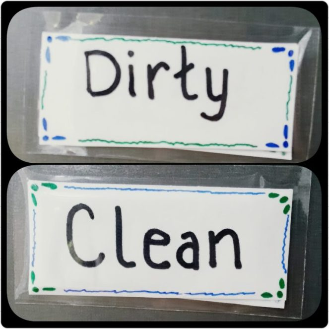 Easy Peasy dishwasher magnet you can make yourself