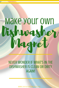 Never wonder if the dishes are clean or dirty again.