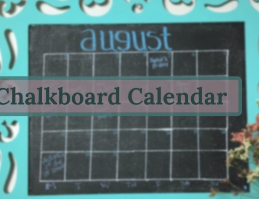 This easy DIY Chalkboard Calendar will have you on time and organized. Perfect for the busy family on the go!