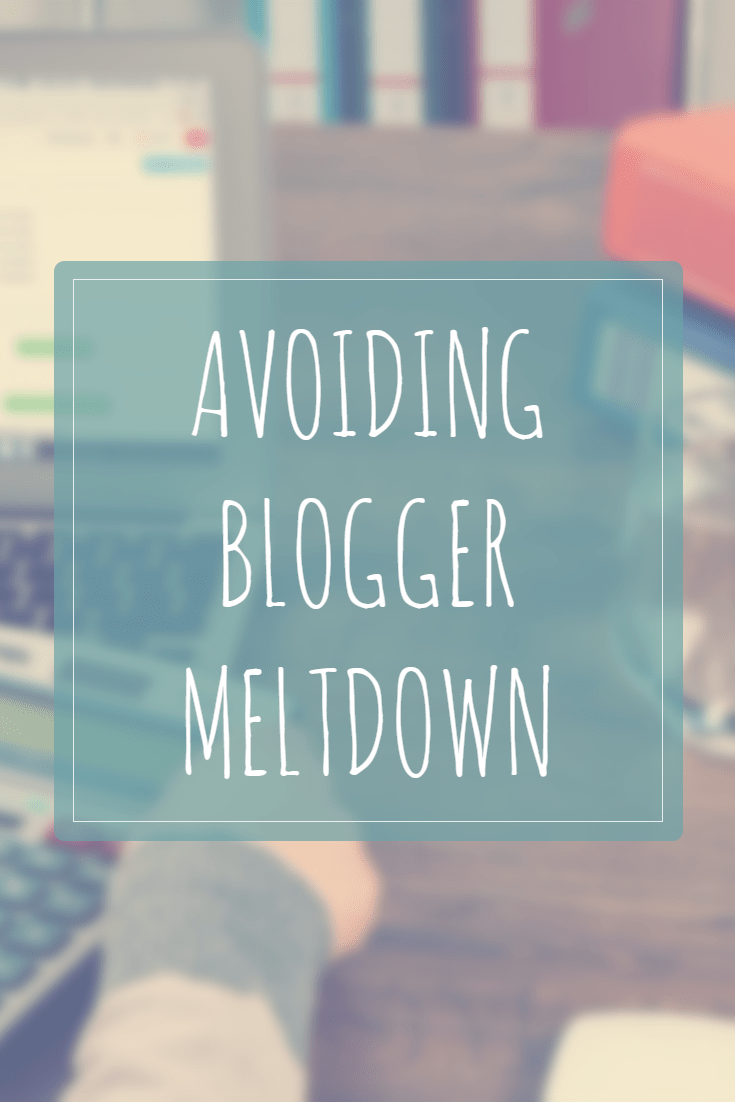 Sometimes we get so caught up in blogging that it leads to blogger meltdown! We can combat the burnout!